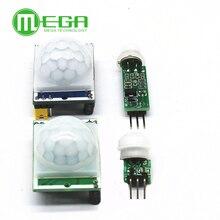 100 pièces HC SR501 SR505 SR602 ajuster IR pyroélectrique infrarouge PIR détecteur de mouvement Module