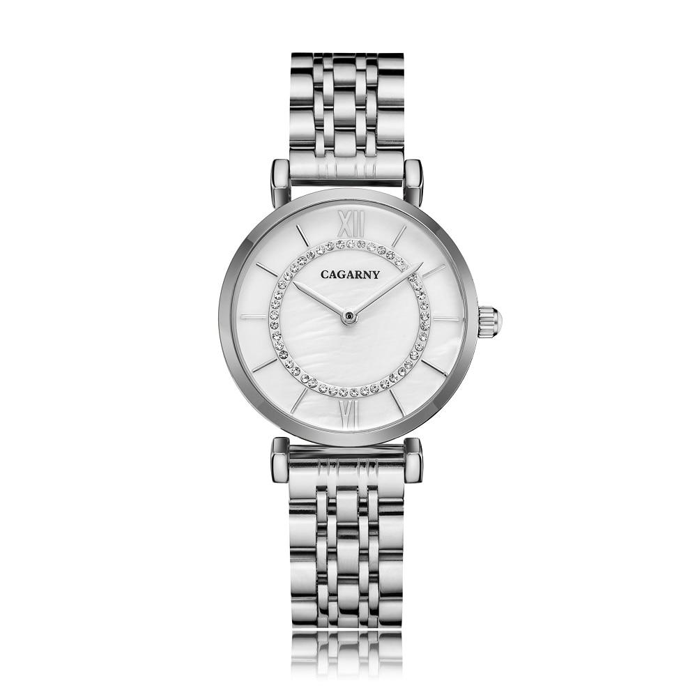 H33e2e3785b1c4e4dac21d24405cbe3b8V Silver Rose Gold Stainless Steel Bracelet Watch For  Women