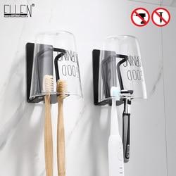 Zelfklevende Badkamer Bekerhouder Zwart Tandenborstelhouder Badkamer Accessoires Metalen Muur Bekerhouder ML7002