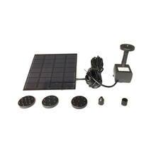 цена на Solar Panel Power Water Pump Fountain Pump Kit For Outdoor Pool Garden Pond Submersible Square Watering Pump Quick Start