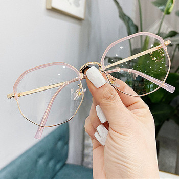 2021 Trends Office Anti Blue Light Oversized Glasses Computer Women Blue Blocking Gaming Big Size Men Eyeglasses Frame image