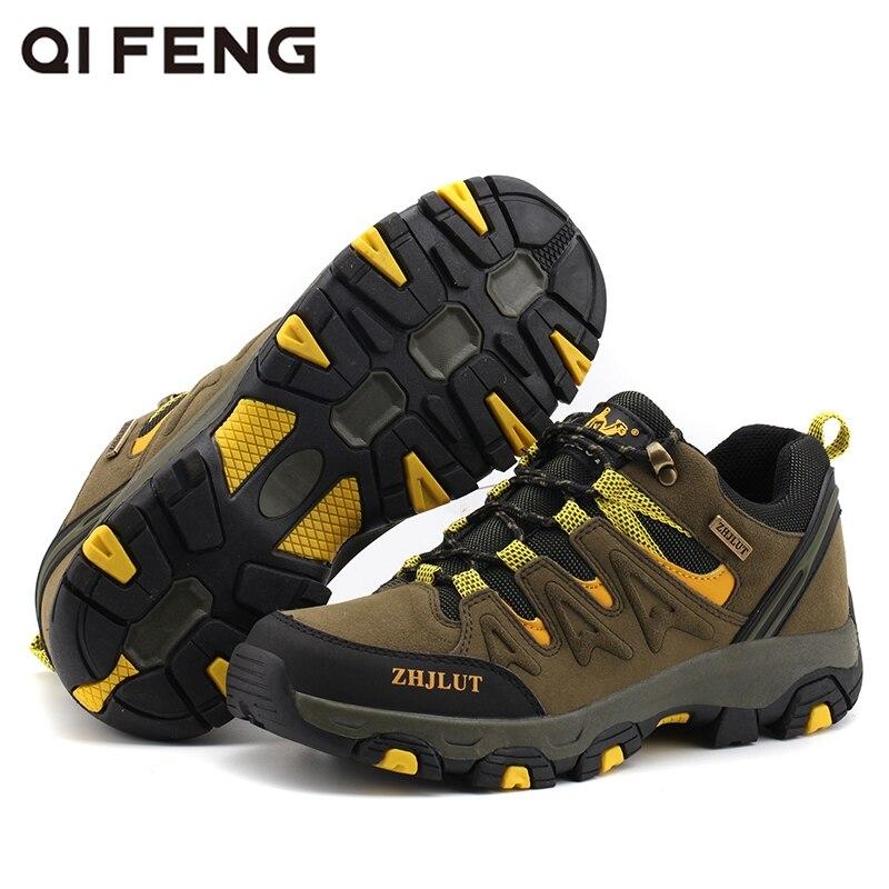 Large Size New Outdoor Sports Running Shoes Men Women Summer Trekking Wear Resisting Walking Footwear Winter Suede Flat Gym Red