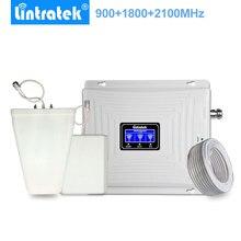 Lintratek 트리플 밴드 셀룰러 신호 부스터 2G 3G 4G 900MHz LTE 1800MHz 2100MHz WCDMA 휴대 전화 신호 Ampli 리피터.
