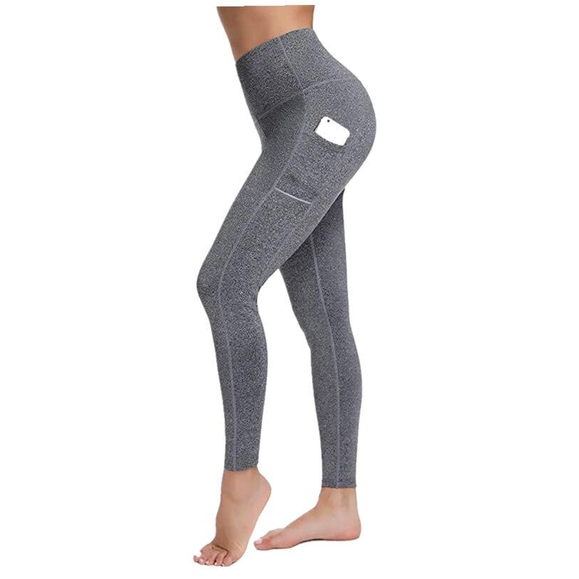Fashion summer Women brand new Sportwear   leggings   High Waist fitness Push Up Leggins with pocket 2019 Casual Plus Size pants