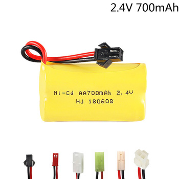 2.4V 700mah NI-CD battery AA 700 mah for Remote Control Car Electric Toys 2.4V NICD battery SM/JST/EL-2P/TAMIYA Plug image