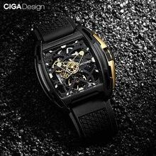 Ciga Ontwerp Horloge Z Serie Exploratie Mechanische Horloge Sapphhire Kristallen Glas Roestvrij Staal Siliconen Band