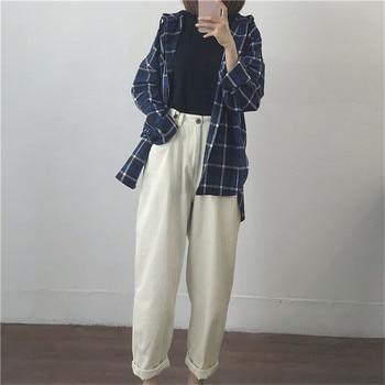 Cotton white Loose boyfriend Denim pants women high waist plus size mom jeans black spring beige blue banana Jeans streetwear 2