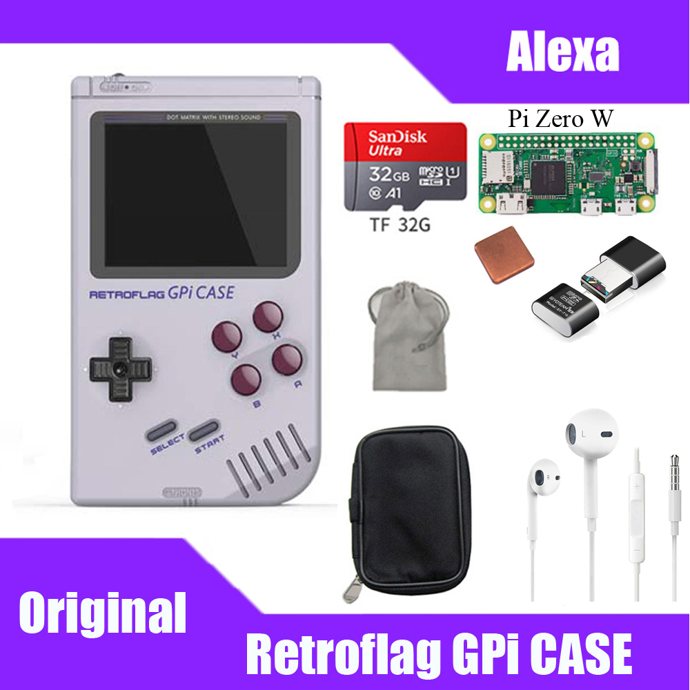IN STOCK! Original Retroflag GPi CASE Kit With 32G Micro SD Card Heatsink Carrying Bag For Raspberry Zero W GPi Case