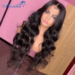 Peruka Body Wave 13x1 30 Cal ludzki włos peruka Remy 150% 180% T część peruka peruwiański włosy peruka 1b/27 Ombre ludzkich włosów peruka szwajcarska peruka typu Lace