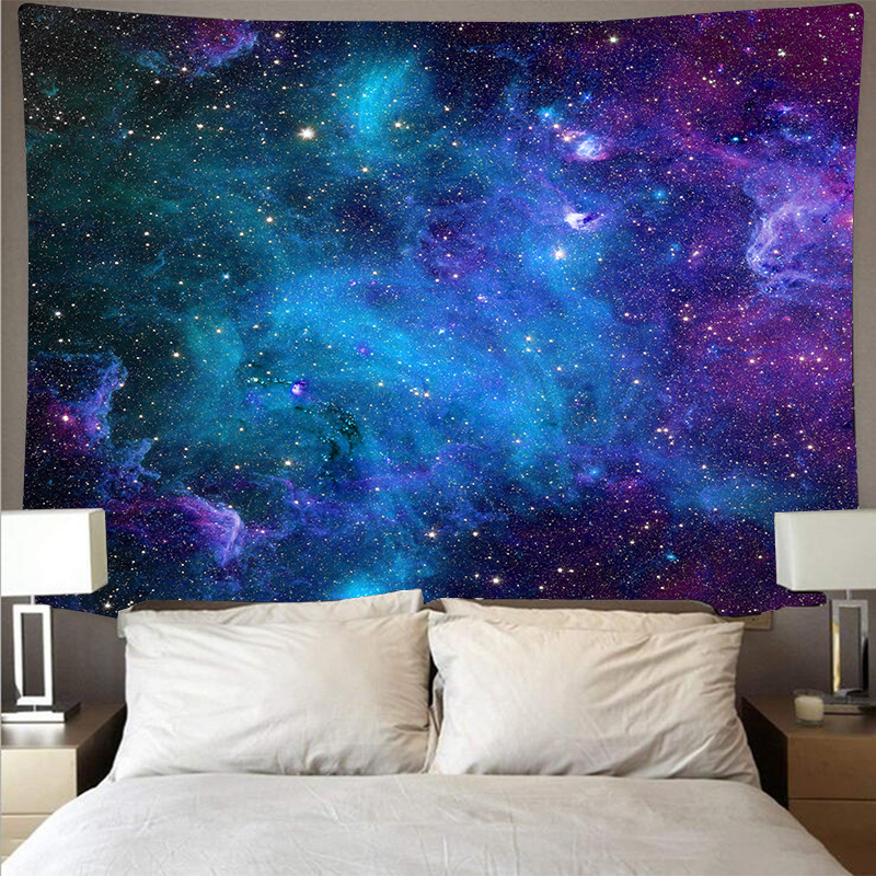 Mystery Universe Starry Sky Space Trippy Tapestry Wall Hanging Large Psychedelic Star Tapestries For Bedroom Wall Cloth Carpet