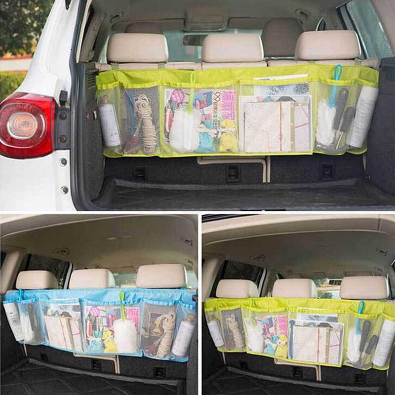 รถจัดเก็บเค้กร้อนใหม่รถกลับที่นั่ง Organizer Auto Travel Multi-Pocket กระเป๋าเก็บ 6 ชั้นรถตกแต่งเครื่องแต่งกาย