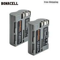 Bonacell 2600mAh EN-EL3e es EL3e EL3a ENEL3e de batería de la cámara Digital Nikon D300S D300 D100 D200 D700 D70S D80 d90 D50 L15