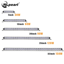 NLpearl Light Bar/Work Light 7-38inch Single Row CREE LED Bar Offroad for Truck Boat