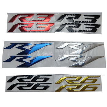 Motorcycle 3D Emblem Badge Decal Tank Wheel Sticker Soft Reflective R1 R3 R6 For Yamaha YZF-R1 YZF-R3 YZF-R6