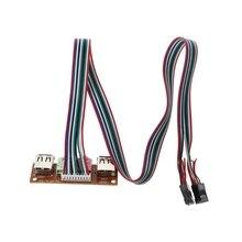 1PC 2 Port USB 2.0 Computer Case Front Panel Audio Jacks Port Mic Earphone Cable