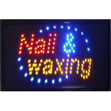 nails and waxing led business signs 10X19 Inch indoor ultra Bright running nail waxing store led sign