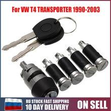7 개/대 1 점화 스위치 4 도어 잠금 2 VW T4 Caravelle MK 4 IV 1990 2003 Transporter 더블 헛간 하드웨어