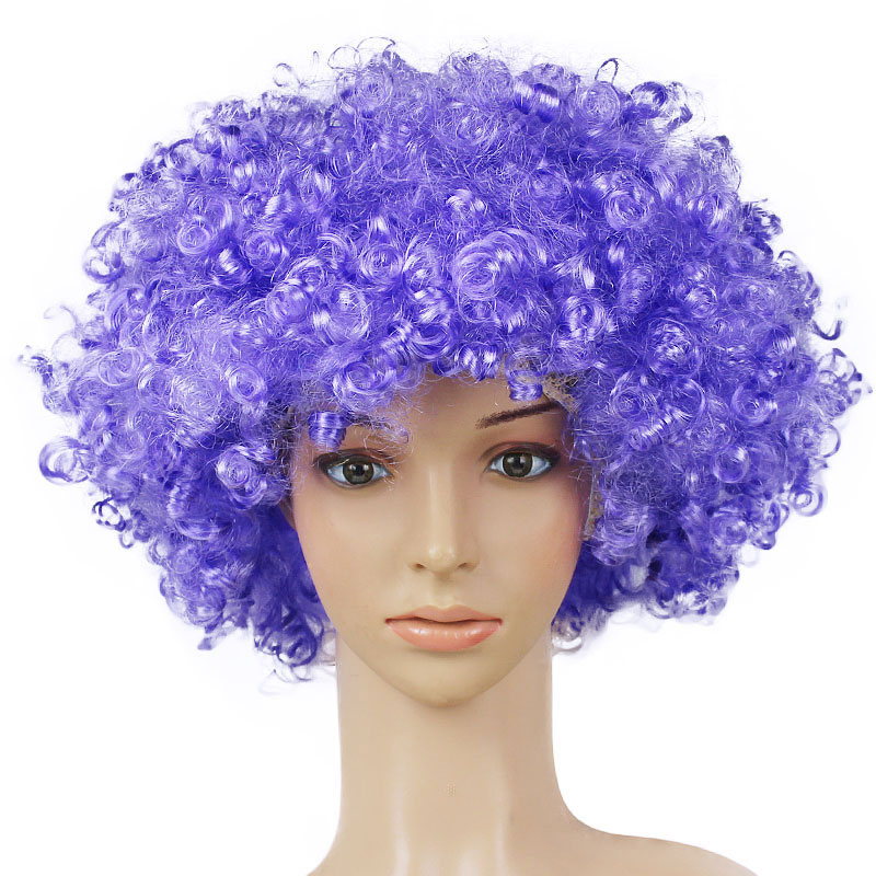 Newly Colorful Halloween Christmas Headdress Clown Dress Up Football Fan Wig Rainbow Wig Dressing Props BFE88