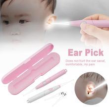 Wax-Removal-Tool Baby-Ear-Cleaner Light-Spoon Flashlight Earpick Curette Luminous