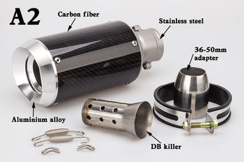 Universal Motorcycle Modified Exhaust Pipe Cylinder CNC Muffler Carbon Fiber Exhaust Pipe R3 MT09 R6 ZX10R