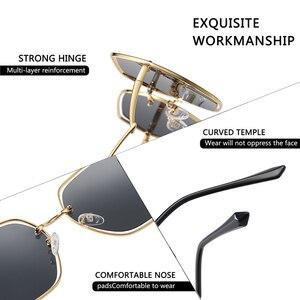 Image 5 - AOFLY BRAND Polarized Sunglasses Women Metal Frame Luxury Female Designer Oversized Square Sunglasses For Ladies Goggle UV400
