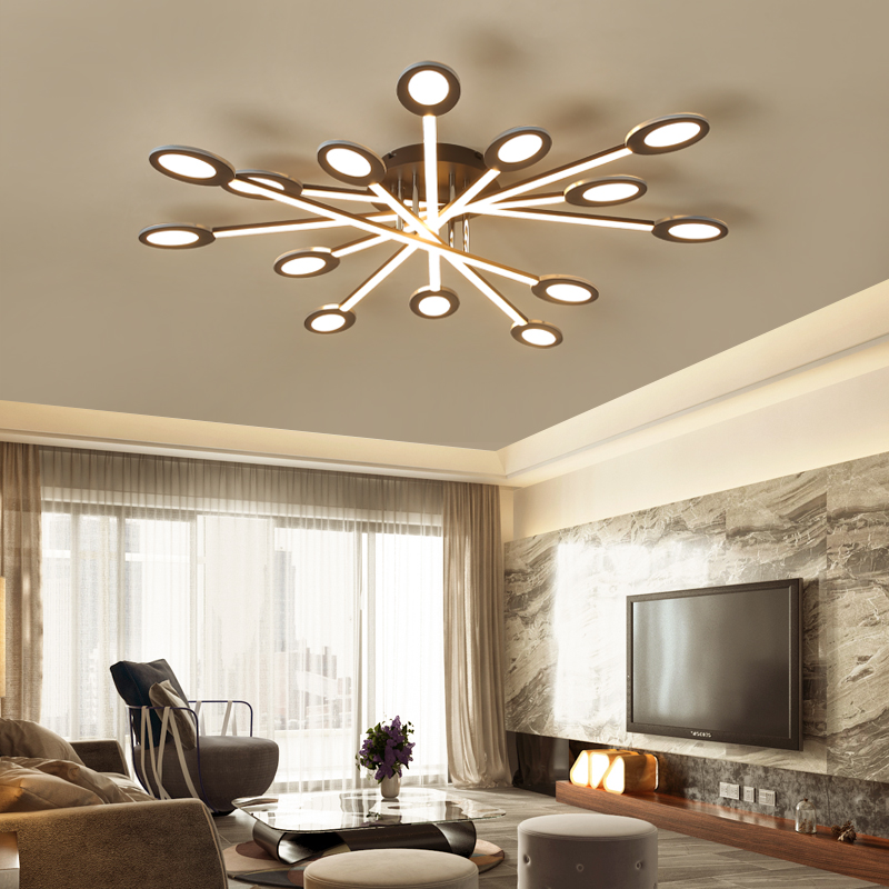 Современный светодиодный потолочный светильник для гостиной, спальни, скандинавского дизайна, для дома, 110 В/220 В, светодиодный потолочный