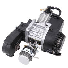 Samger 49cc 2-Stroke Pocket Bike Engine Motorcycle Engine Motor Air Filter Pullstart Quad Pocket Bike Cross Bike ATV