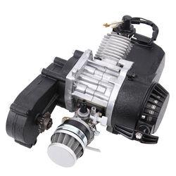 Samger 49cc 2-Takt Pocket Bike Motor Motorfiets Motor Motor Luchtfilter Pullstart Quad Dirtbike Cross Bike Atv