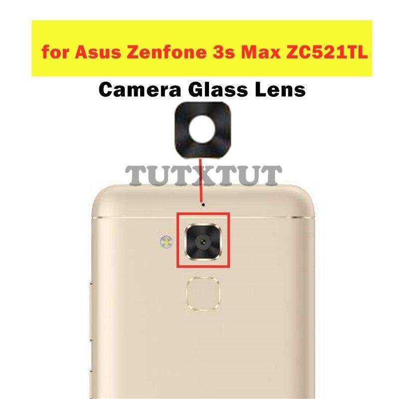 2 шт. для Asus Zenfone 3s Max ZC521TL задняя камера стеклянный объектив основная задняя камера объектив с клеем запасные части для ремонта