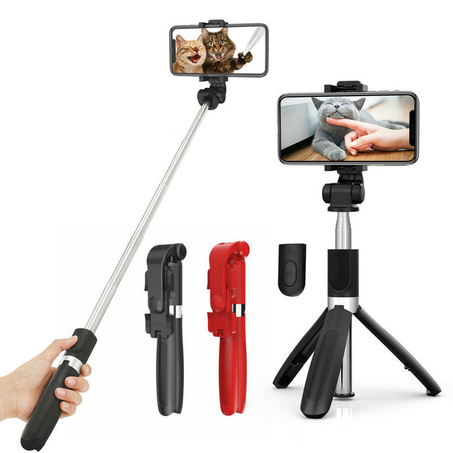 Bluetooth Selfie Stick Tripod Handheld Extendable Monopod With Shutter Remote Foldable Tripod For iPhone Huawei Samsung