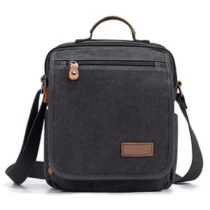 Image 2 - Mini Men Canvas Bag Wear Resistant Fashion Handbag Business Briefcase Crossbody Bags Travel Casual Retro Bags For Male XA508ZC