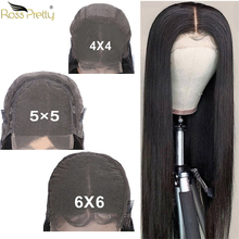 Ross Pretty 8inch-36inch long human hair lace wigs remy hair 4x4 5x5 6x6 Front swiss lace closure brazilian hair straight wig