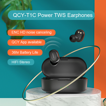 QCY T1C Power HiFi stereo earphone wireless headset Bluetooth 5.0 headphone AAC earbuds with microphone customizing APP 2