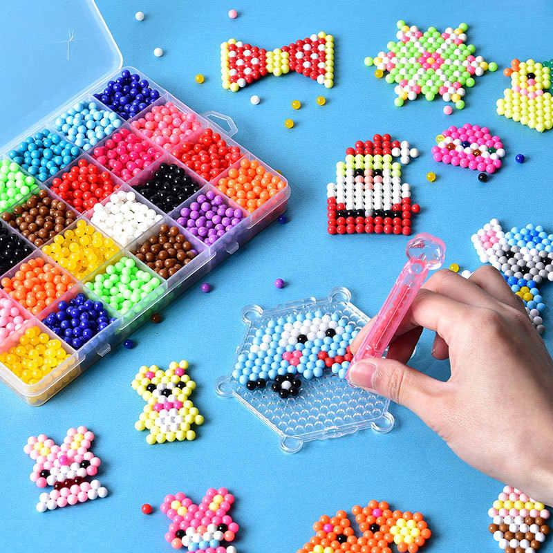 ลูกปัด DIY หัตถกรรมชุดของเล่นเพื่อการศึกษาเด็กที่มีสีสันความคิดสร้างสรรค์ Magic น้ำลูกปัดคริสต์มาสของขวัญของเล่นเด็ก