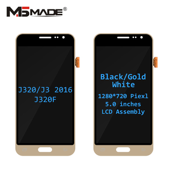 J320F Super AMOLED For Samsung Galaxy J320 J3 2016 LCD J320H J320FN J320M Display Touch Screen Digitizer Assembly Parts J320 LCD 1