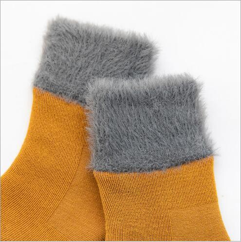 Winter new thickening baby snow socks velvet warm children's socks plus velvet comfortable baby socks footwear 5