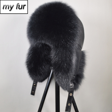 2019 New Men Outdoor Winter Natural Real Fox Fur Bombers Hats Warm Soft Quality Real Raccoon Fur Cap Real Sheepskin Leather Hat cheap doakxol Adult Solid Bomber Hats my fur-9222 100 natural real fox fur 100 natural real sheepskin leather Adjustable fit for everyone