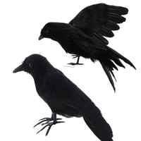 1 pieza Artificial negro pluma cuervos accesorios Halloween fantasma Festival decoraciones casa embrujada fiesta Bar decoraciones