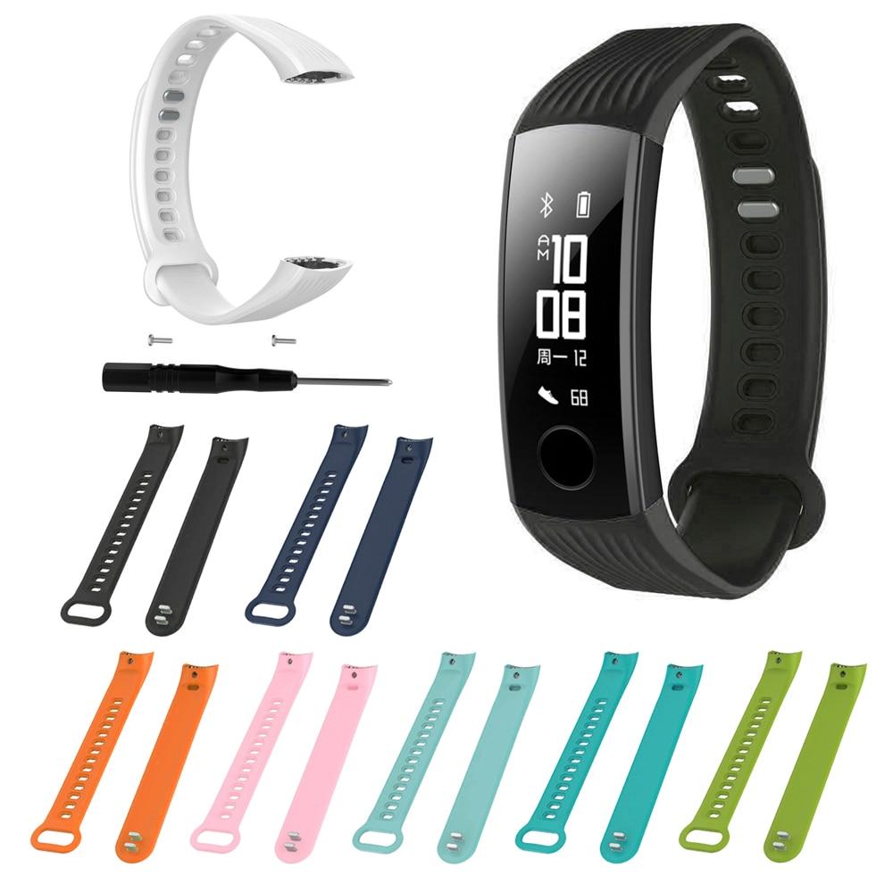 Pulseira de pulso para huawei honor band 3 relógio inteligente pulseira ajustável pulseira de silicone macio esportes cinto substituição