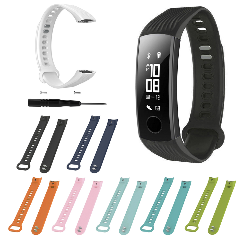 Wrist Strap For Huawei Honor Band 3 Smart Watch Wristband Adjustable Bracelet Watchband Soft Silicone Sports Replacement Belt