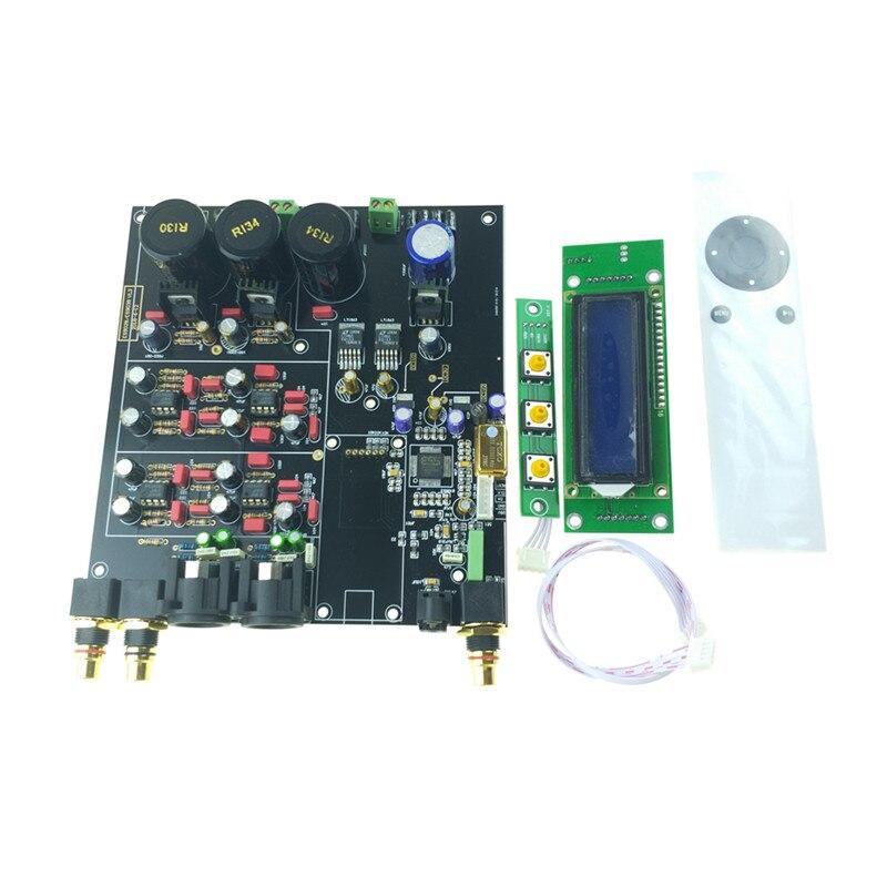 ES9038 ES9038PRO DAC decoder assembled board TCXO 0 1PPM remote control option USB XMOS XU208 or