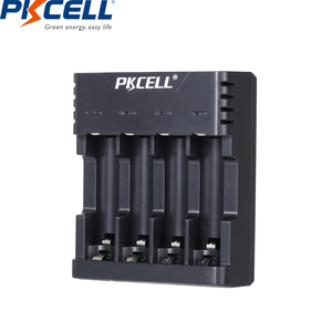 Image 2 - PKCELL Battery Charger for AA/AAA Rechargeable Batteries 1.2v NiCd NiMh Battery charger with 4Slots LCD Display Usb Cable