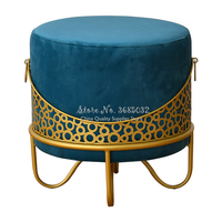 New Nordic Dresser Makeup Stool Modern Sofa Foot Stool Creative Stool Fabric Change Shoes Stool Simple Chair Home Furniture