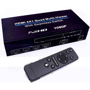 HDMI Swithcer HDMI Quad multi-просмотра 4x1HDMI коммутатор Ультра с бесшовным видеоразветвитель 1080P Поддержка 5 режимов для PS3/PC/STB/