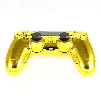 100pcs Gold Full Housing Shell Case Skin Cover Button Set with Full Buttons Mod Kit For Playstation 4 PS4 Controller Replacement