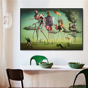 Salvador Dali Wall Art Poster Prints Man Pig Camels Canvas Painting Wall Pictures For Living Room Classic Art Cuadros Decoration(China)
