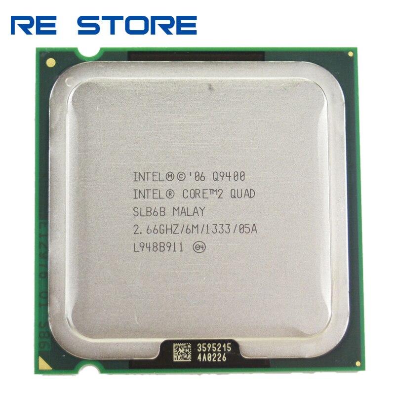 Б/у процессор Intel Core 2 Quad Q9400 2,6 ГГц, четырехъядерный процессор 6 м 95 Вт LGA 775