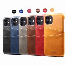 YXAYN skórzany futerał na telefon dla iPhone 11 Pro Max wizytownik pokrywa portfel etui na iPhone 8 7 Plus X XR XS MAX