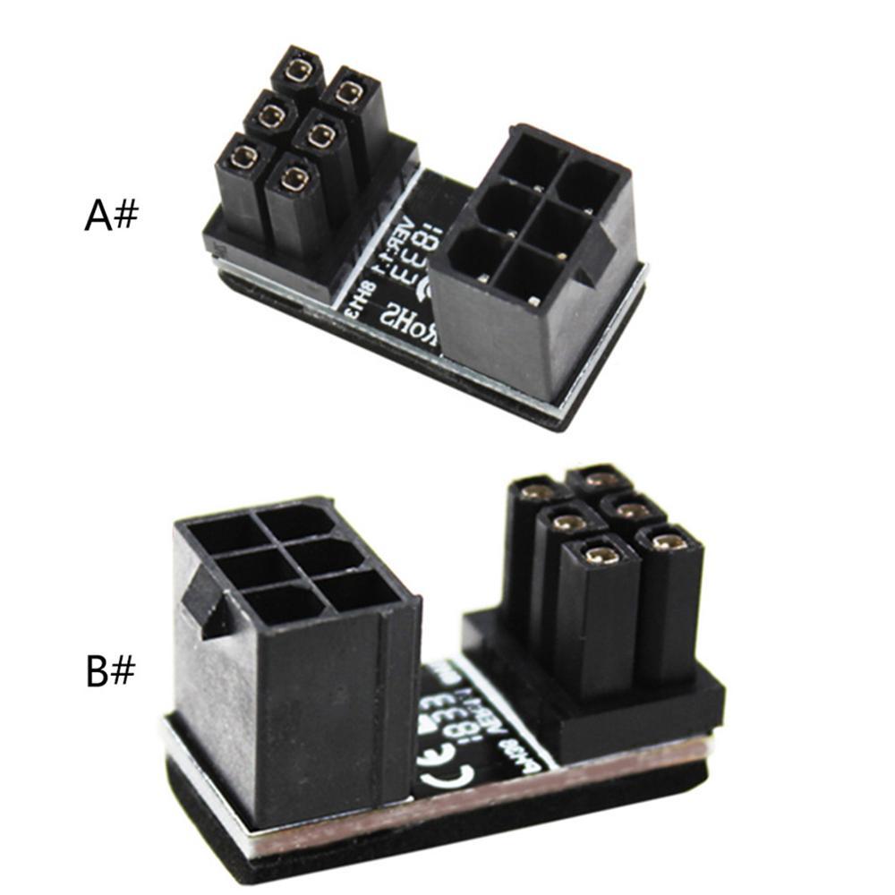 A TX 6pin Male 180 градусов угловой до 6 Pin Женский адаптер питания для GPU настольных компьютеров видеокарта