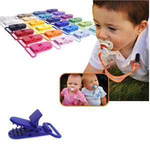 Image 5 - 100 Pcs 20 Color Mixed Hot D Shape 25mm Plastic Baby Pacifier Clip Holder Newborn Baby Dummy Soother Bib Toy Chain Gift